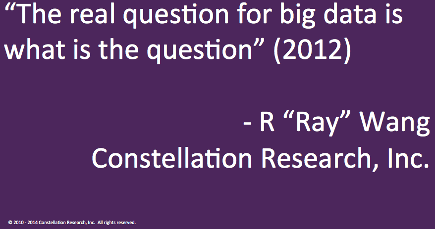 Question for big data ?