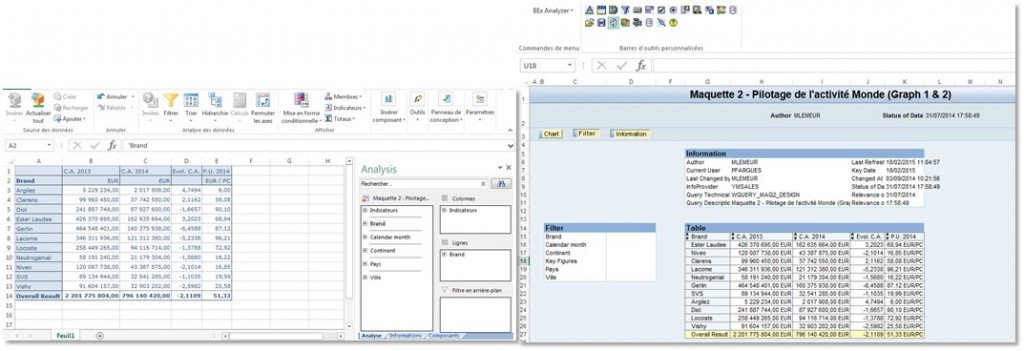 Interface Analysis for Office - Interface BEx Analyzer